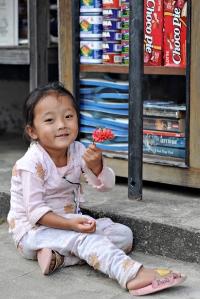 Dziewczynka z Thulo Syaphru
