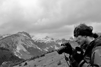 Fotograf na szlaku (Pireneje, Hiszpania)