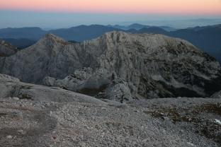 Po zachodzie (Alpy Julijskie, Słowenia)