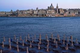 Sliema, widok na Vallettę