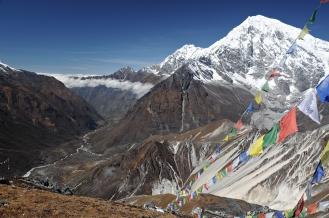 Widok z Tsergo Ri (Nepal)