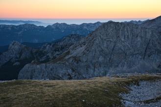 Wieczór (Alpy Julijskie, Słowenia)