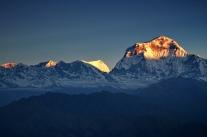 Widok z Poon Hill na masyw Dhaulagiri