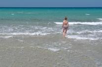 Jedna z wielu piaszczystych plaż w Balagne