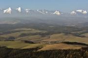 Z Trzech Koron widok na Tatry