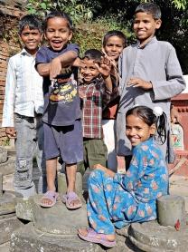 Dzieciaki z Bhaktapuru