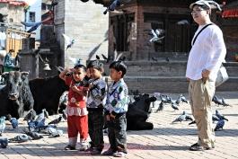 Z życia Durbar Square (Katmandu)