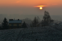 Wschód słońca w Lędzinach