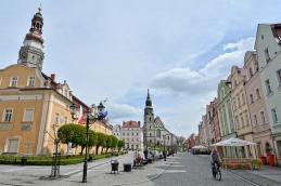 Krajobraz rynku w Bolesławcu