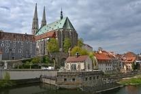 Młyn, kościół św. Piotra i Pawła oraz Waidhaus w Görlitz