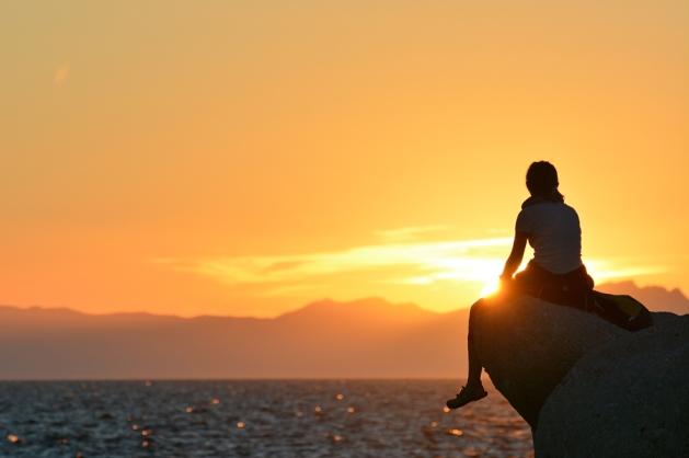 Zachód słońca nad Korsyką (Elba)