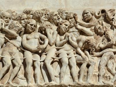 Detale fasady Duomo di Orvieto
