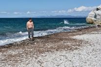 Posztormowa plaża Capo Bianco