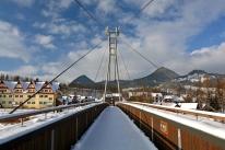 Most nad Dunajcem łączący Sromowce i Czerwony Klasztor