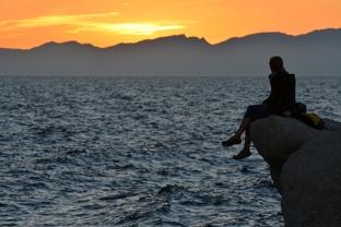 Zachód słońca nad Korsyką