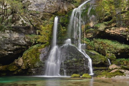 Wodospad Virje (Alpy Julijskie, Słowenia)