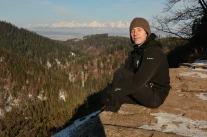 Portret z Tatrami w tle